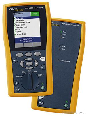 fluke networks dtx 1800 cat5 cat5e cat6 digital cable analyzer certifier tester. Black Bedroom Furniture Sets. Home Design Ideas